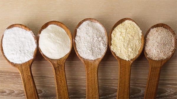 Farines, sucre et agar-agar