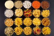 Pâtes, riz, graines, céréales et légumineuses